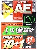 TDK 11本セット カセットテープ AE-120X11F 120分 いい音設計