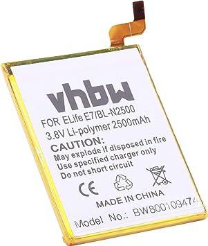 vhbw Li-Polymer batería 2500mAh (3.8V) para Smartphone, teléfono ...