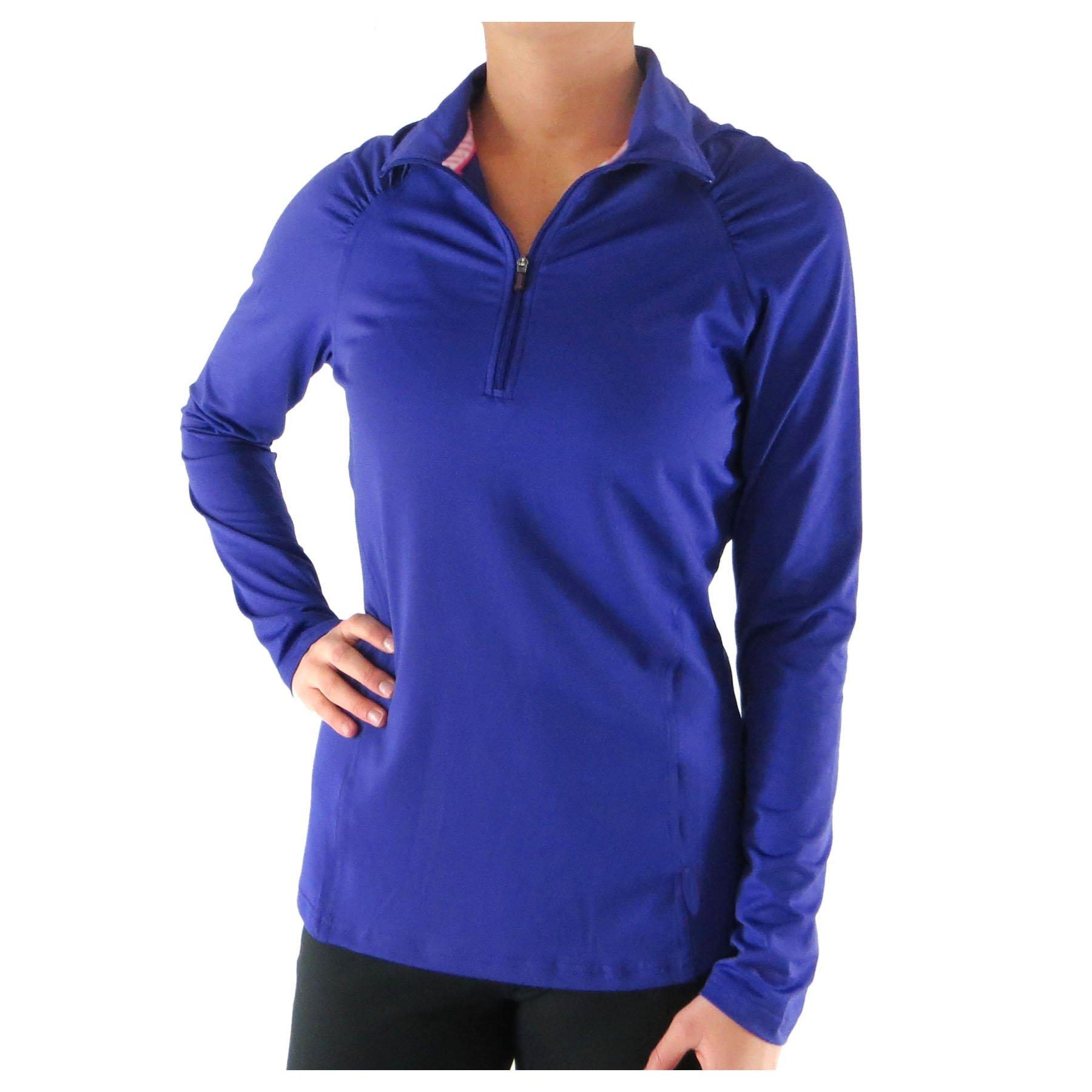 Alex + Abby Women's Essential Pullover Small Purple Rain