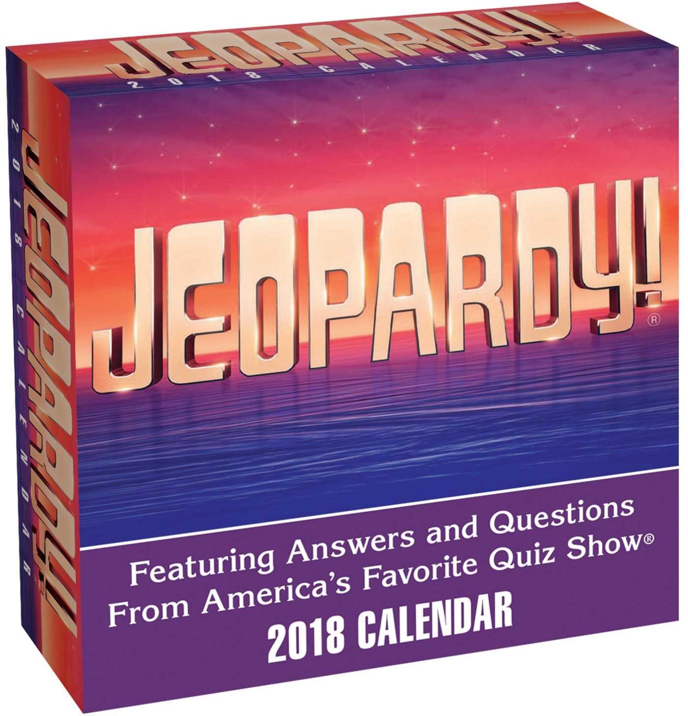 Jeopardy 2018 day to day calendar sony 9781449482497 amazon jeopardy 2018 day to day calendar sony 9781449482497 amazon books fandeluxe Gallery