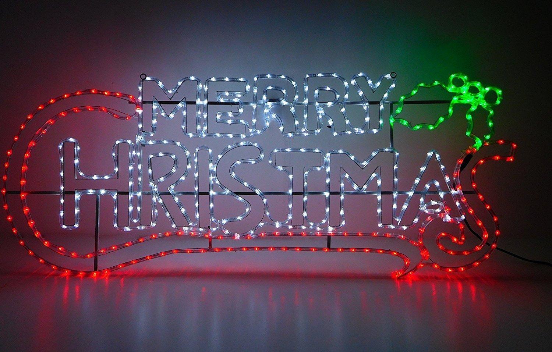 Christmas Concepts® 1,5 Meter-Seil-Licht Frohe Weihnachten Zeichen ...