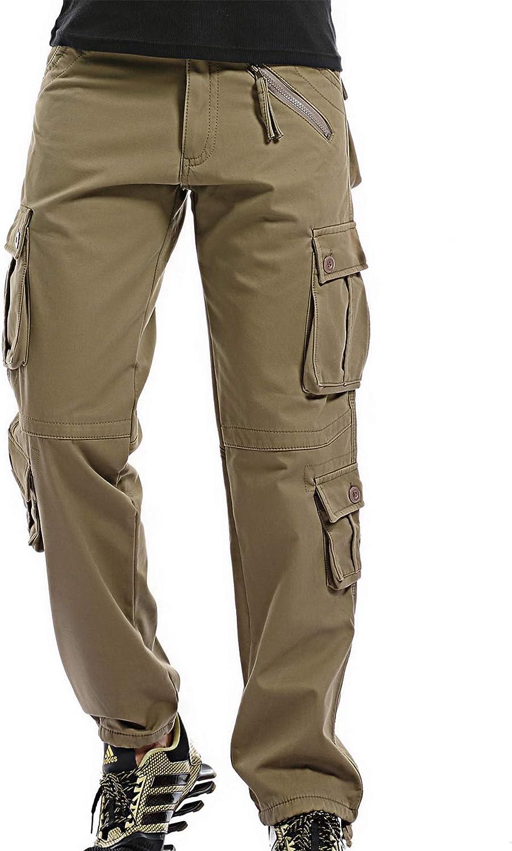 FLYF Pantalones Camuflaje Hombre Pantal/ón Militares Invierno Pantalon De Trabajo
