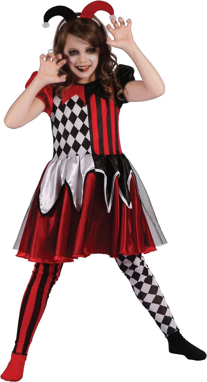 Generique - Disfraz de arlequín Malvado niña: Amazon.es: Juguetes ...