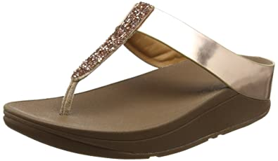 365543b89 FitFlop Womens Fino Toe Post Metallic Diamante Sandal Shoes