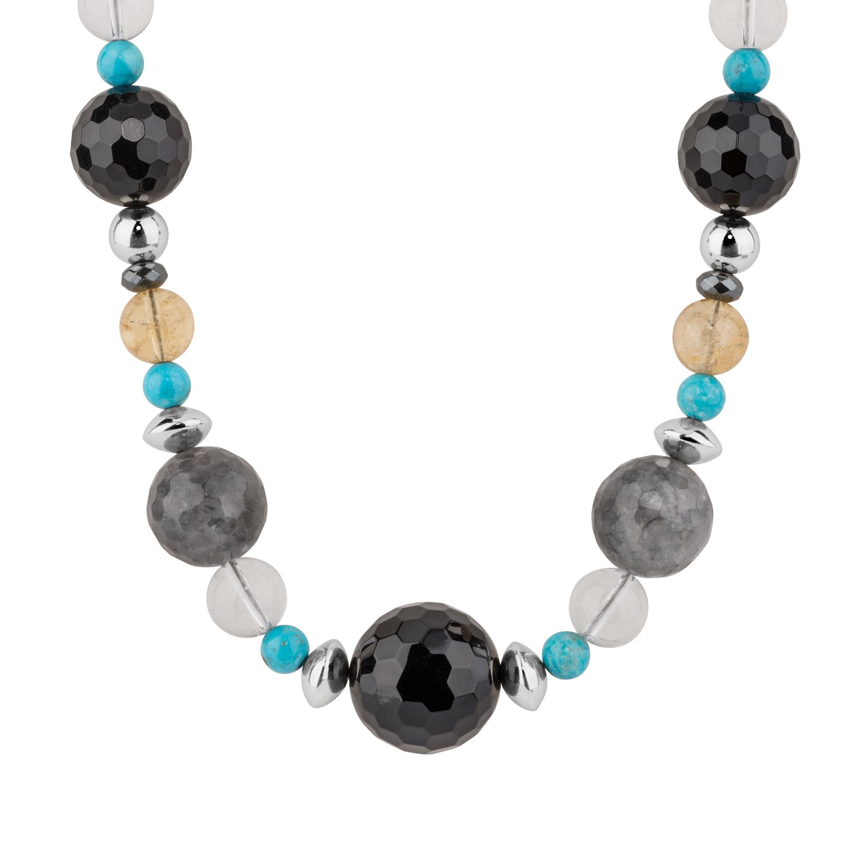 Carolyn Pollack Sterling Silver & Multi Gemstone Beaded Bold Necklace
