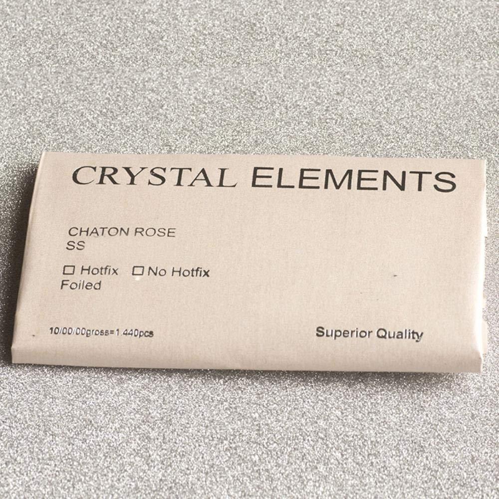 Emerald PENVEAT Artes y Manualidades de Diamantes de imitaci/ón 2058 con Parte Trasera Plana y Piedras de Cristal SS6 1440Pcs