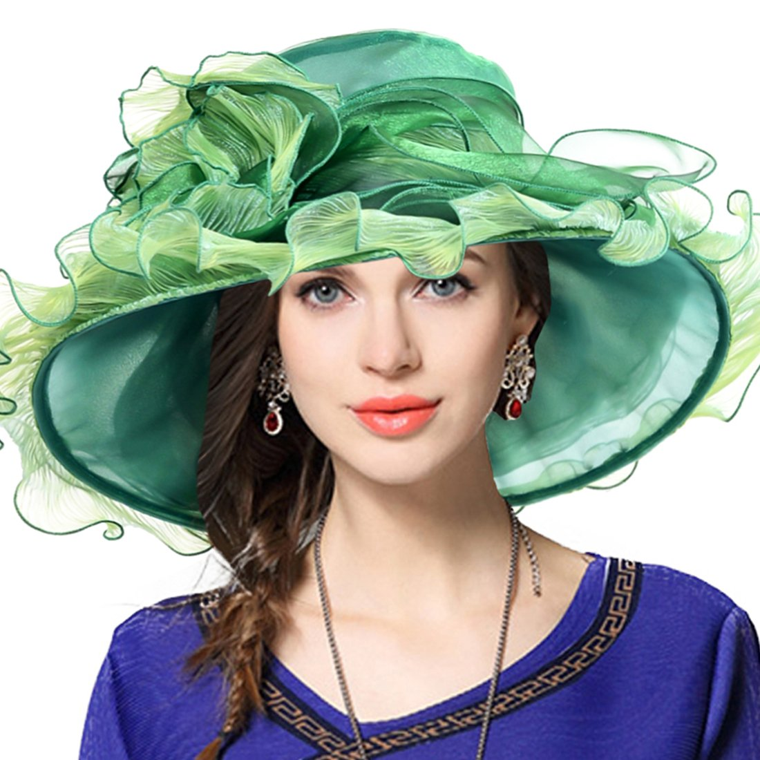 Rufflegreen JESSE · RENA Women's Church Derby Dress Fascinator Bridal Cap British Tea Party Wedding Hat