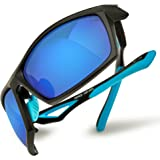 HAKA Fashion Polarized Outdoor Sports Sunglasses for Mens Womens Baseball Running Cycling Driving Fishing Golf Hunting