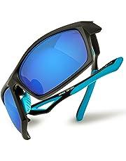 HAKA Fashion Polarized Outdoor Sports Sunglasses for Mens Womens Baseball Running Cycling Driving Fishing Golf Hunting