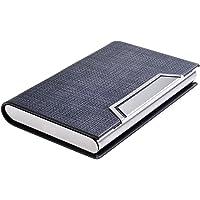 Quantum Abacus Tarjetero/Estuche para tarjetas de visita, de acero inoxidable y cuero PU, con cierre magnético…