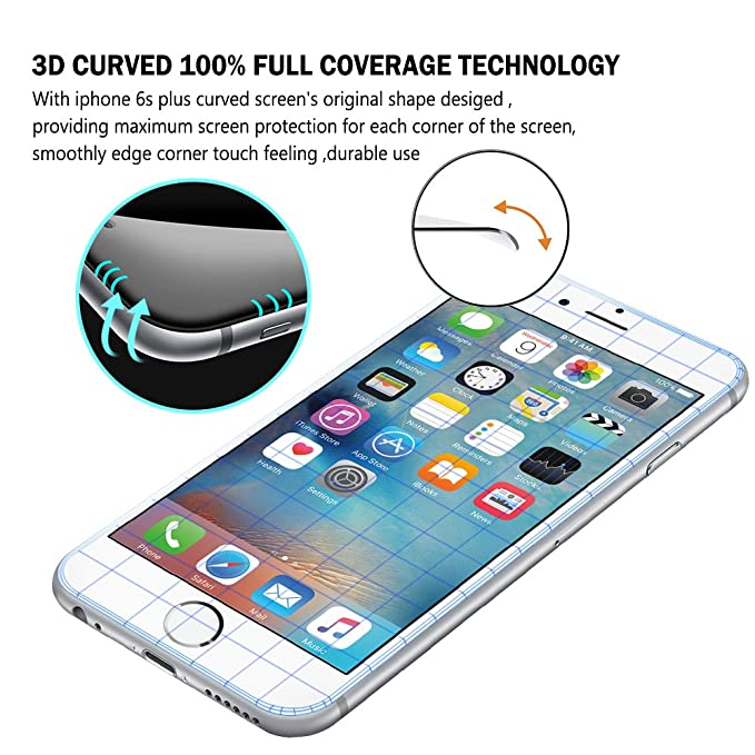 SZEETECH - Protector de pantalla de vidrio templado para iPhone 6 ...