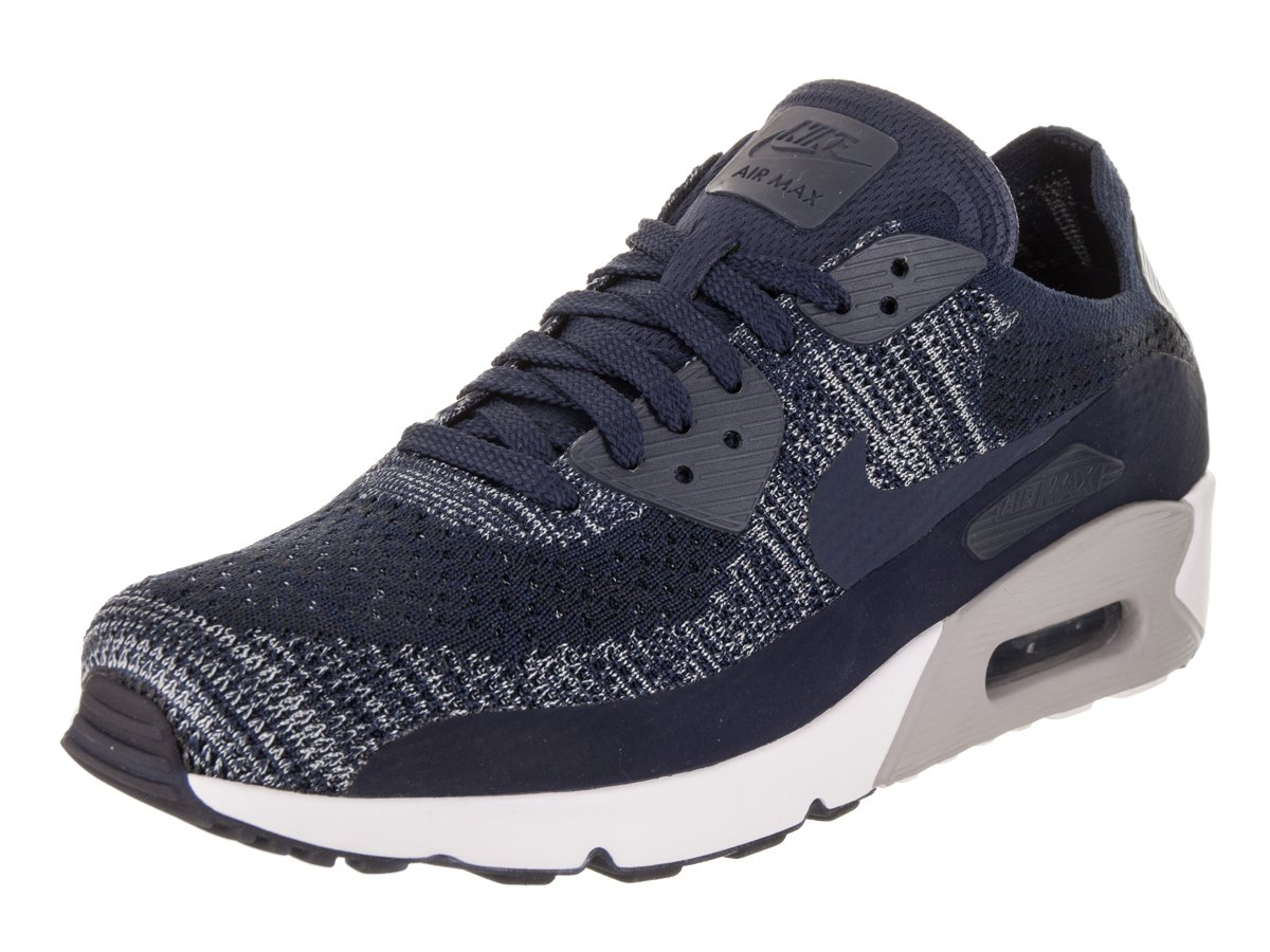 NIKE Mens Air Max 90 Ultra 2.0 Flyknit Running Shoe (11.5 D(M) US, College/Navy/College/Navy)
