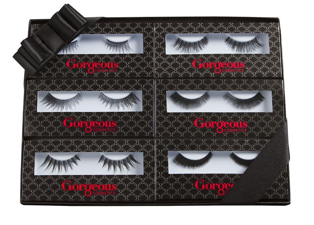 Gorgeous Cosmetics Lash Flash-6 Pair Set, 1 lb
