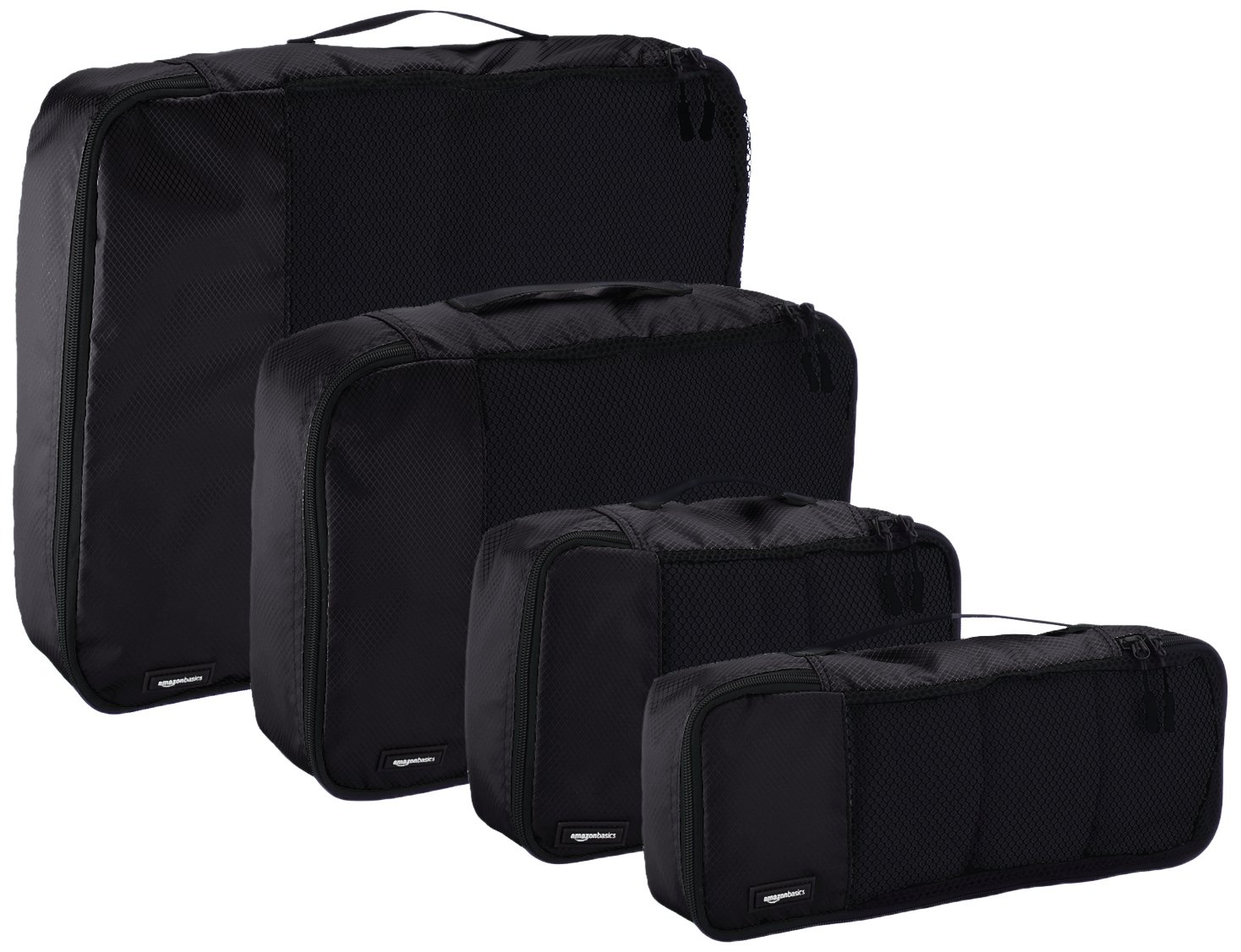 AmazonBasics 4-Piece Packing Cube Set - Small, Medium, Large, and Slim, Black by AmazonBasics (Image #4)