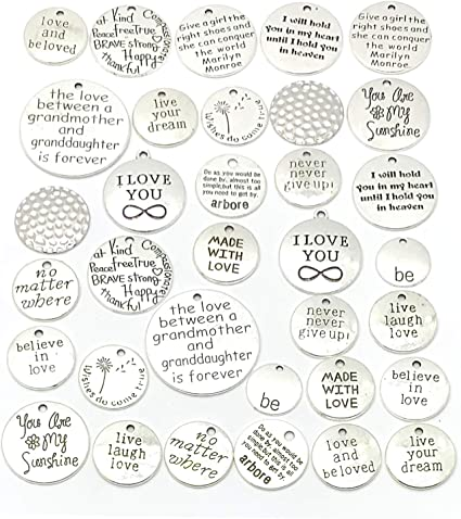 excellent for card /& scrapbook makers Choose 6 charms for a gardener quotes