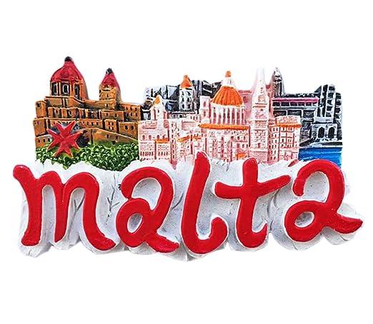 Imán para nevera con las letras Malta en 3D, recuerdo adhesivo de ...