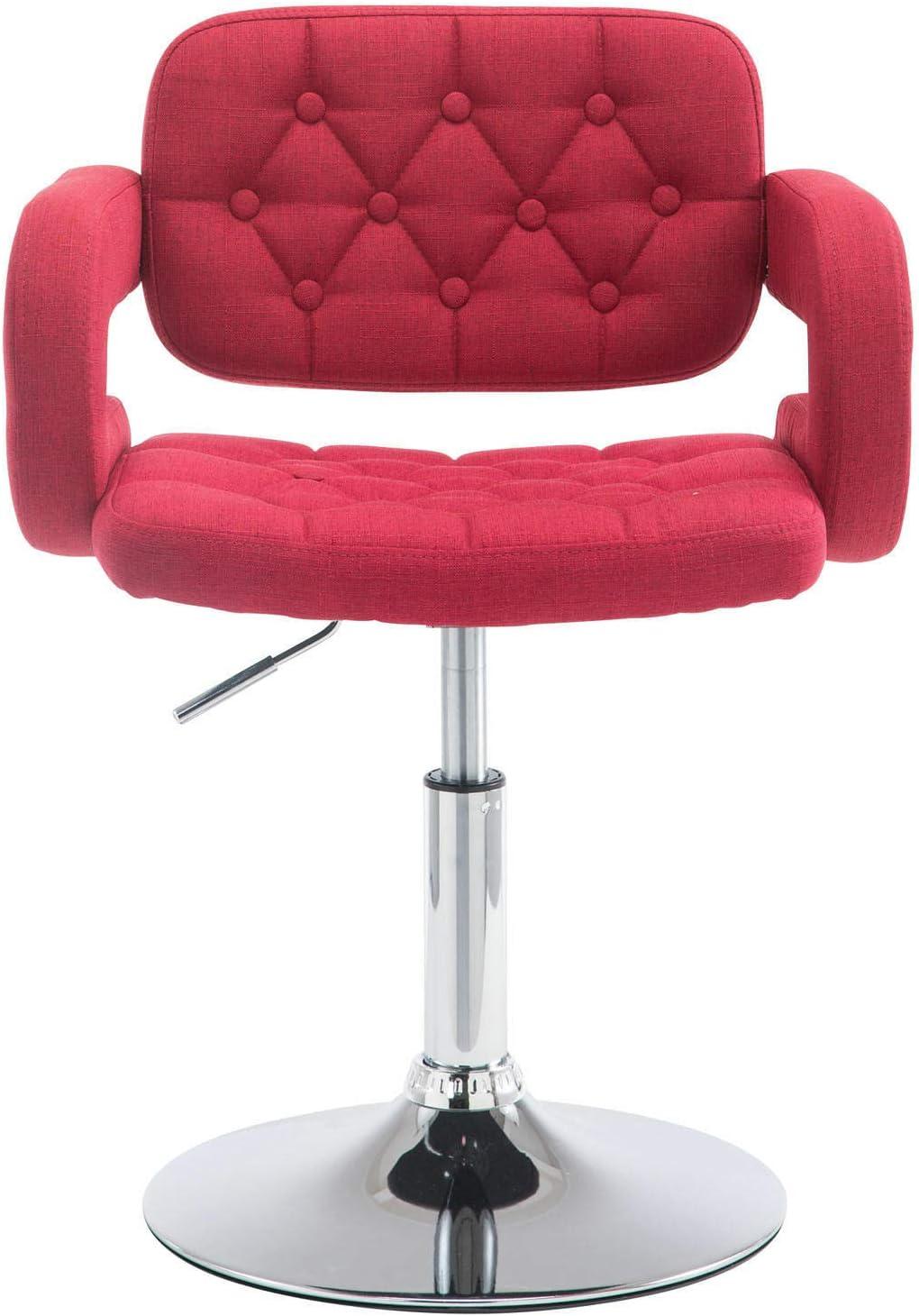 CLP Chaise Lounge R/églable en Hauteur Dublin en Tissu I Chaise Haute Pivotante avec Assise Rembourr/ée Dossier Et Accoudoirs Taupe