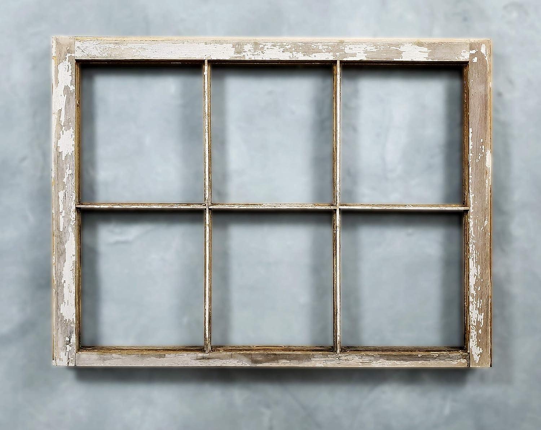 Amazon Com Old Shabby Chic 6 Pane Antique Vintage Window Frame