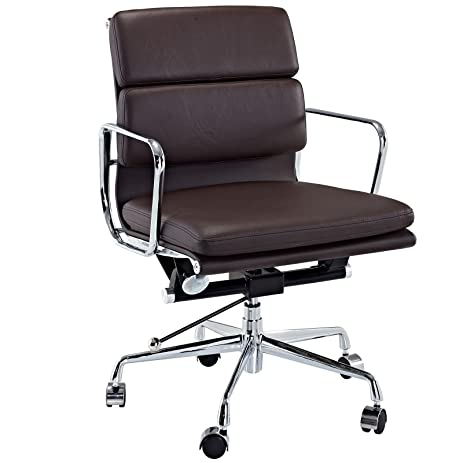 Amazon.com: Modway Discovery Mid Back Leather Conference Office ...