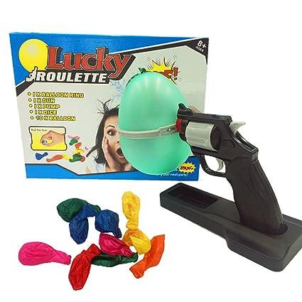 Amazoncom Esc 16 1 Lucky Roulette Balloon Gun Bang Party Water Fun