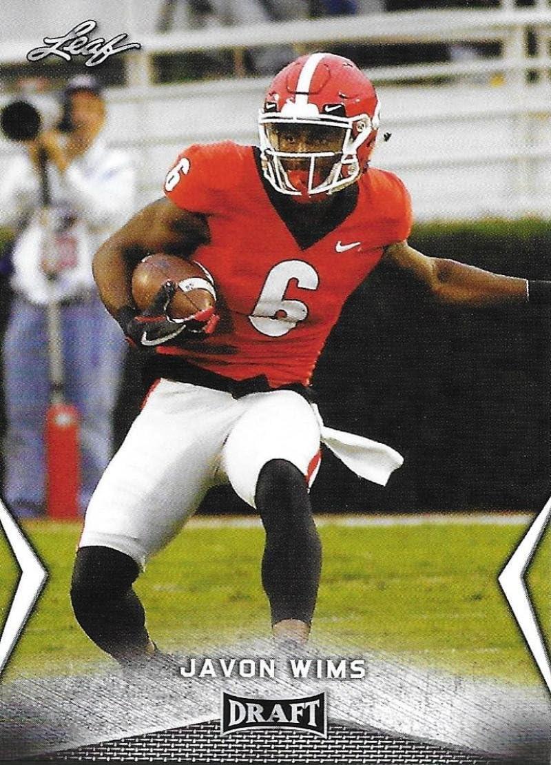 2018 Leaf Draft #28 Javon Wims Georgia Bulldogs Football Card