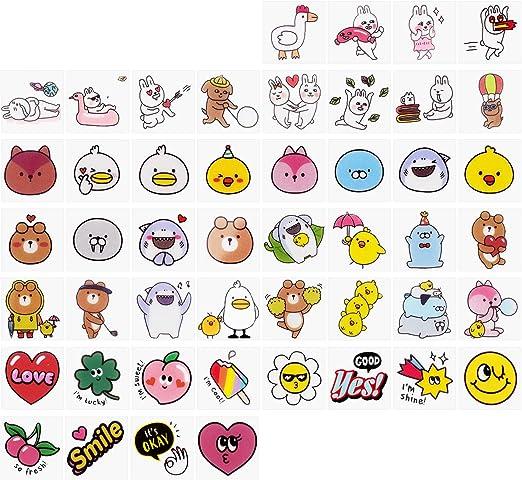 X-Mile 4 Pack Novelty Pegatinas de Decoración de Dibujos Animados para Niños 144 Piezas Mini Auto Adhesivo Cute Colorful Easy Gift Stickers para DIY Embellezca la Artesanía del Cuaderno: Amazon.es: Hogar