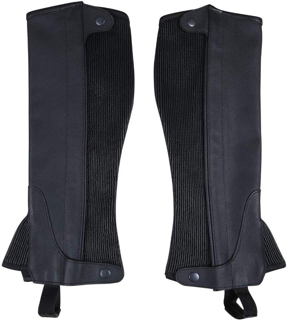 Color Negro Piel RAD The Ultimate Strength Polainas de equitaci/ón