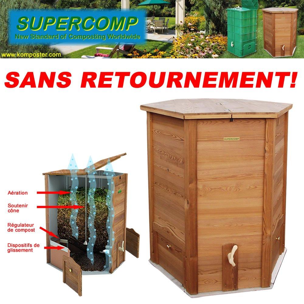 Vermicompostador de madera Supercomp - jardín compostera ...