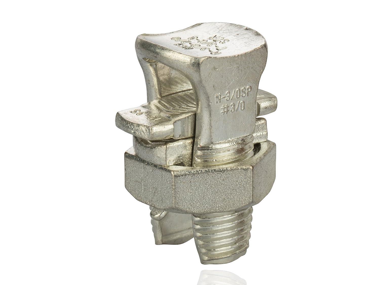 500lbs Torque 0.198-0.470 Wire Diameter Range Split Bolt Connector All-Purpose Type