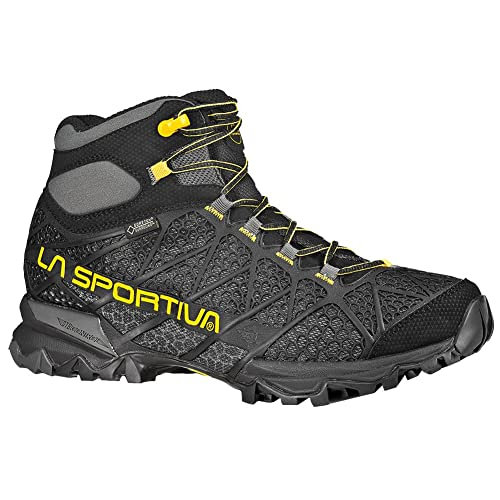La Sportiva Men's Core High GTX Trail Hiking Boot, Black/Yellow, 38 M EU
