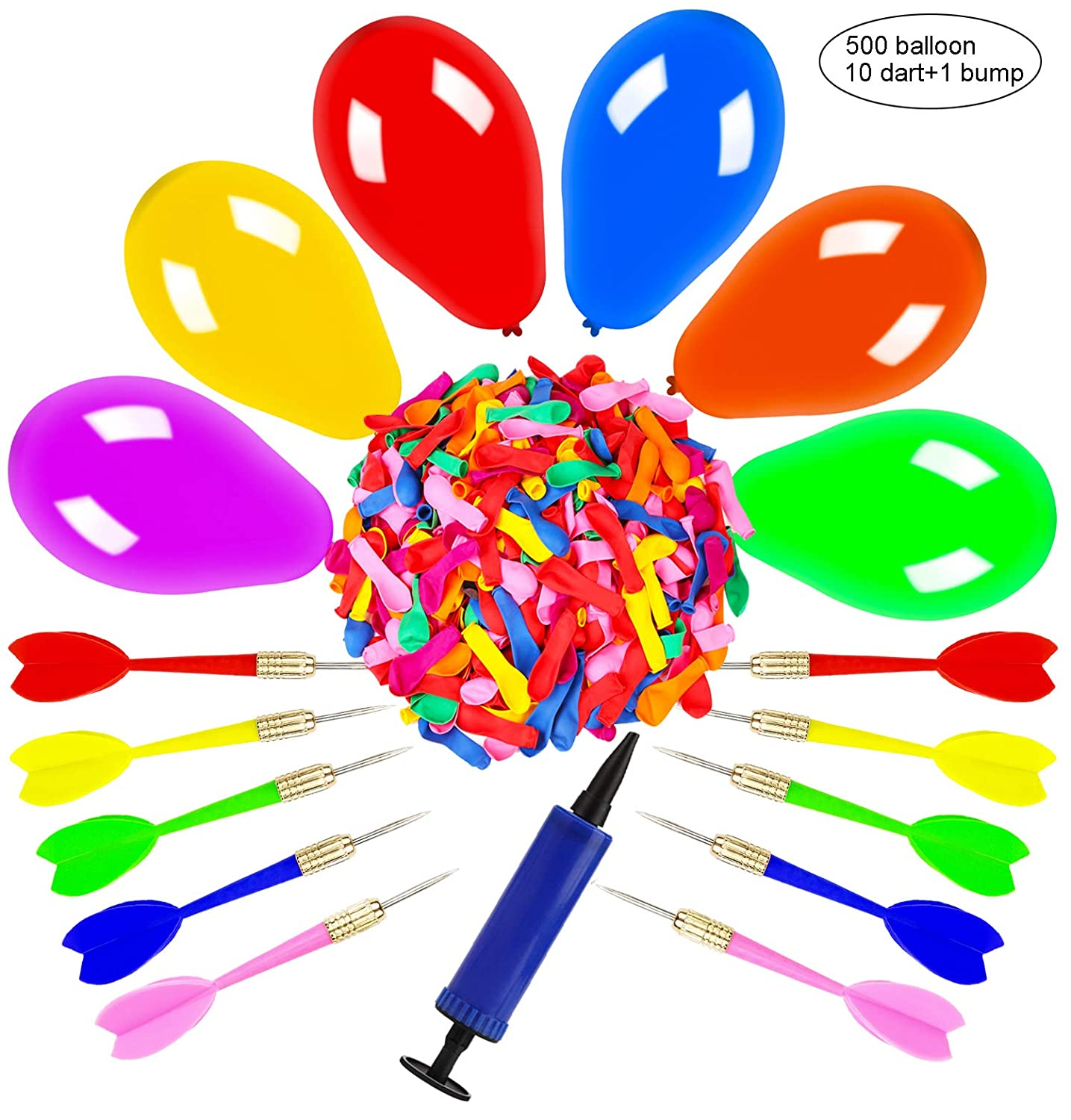 50 RED PLASTIC CARNIVAL DARTS METAL TIP POP A BALLOON GAME PARTY FUN ACTIVITY
