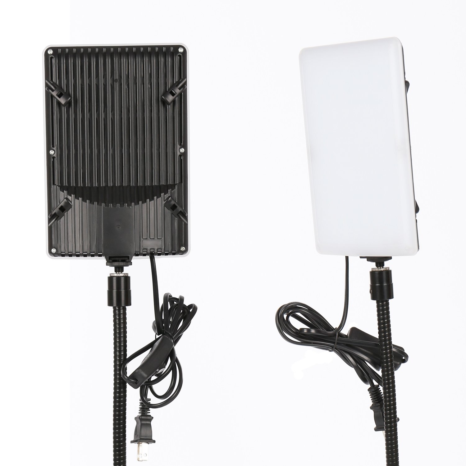 LS Photography LED Light Panel with Gooseneck Extension Adapter and Acrylic Black & White Reflective Display Table Riser, Table Top Photo Video Lighting Kit, LGG765 by LS Photography (Image #4)