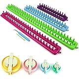 H & S®–Juego de 4para tejer Knitter Telares Set Craft Kit calcetines bufanda gorro eléctrica–largo
