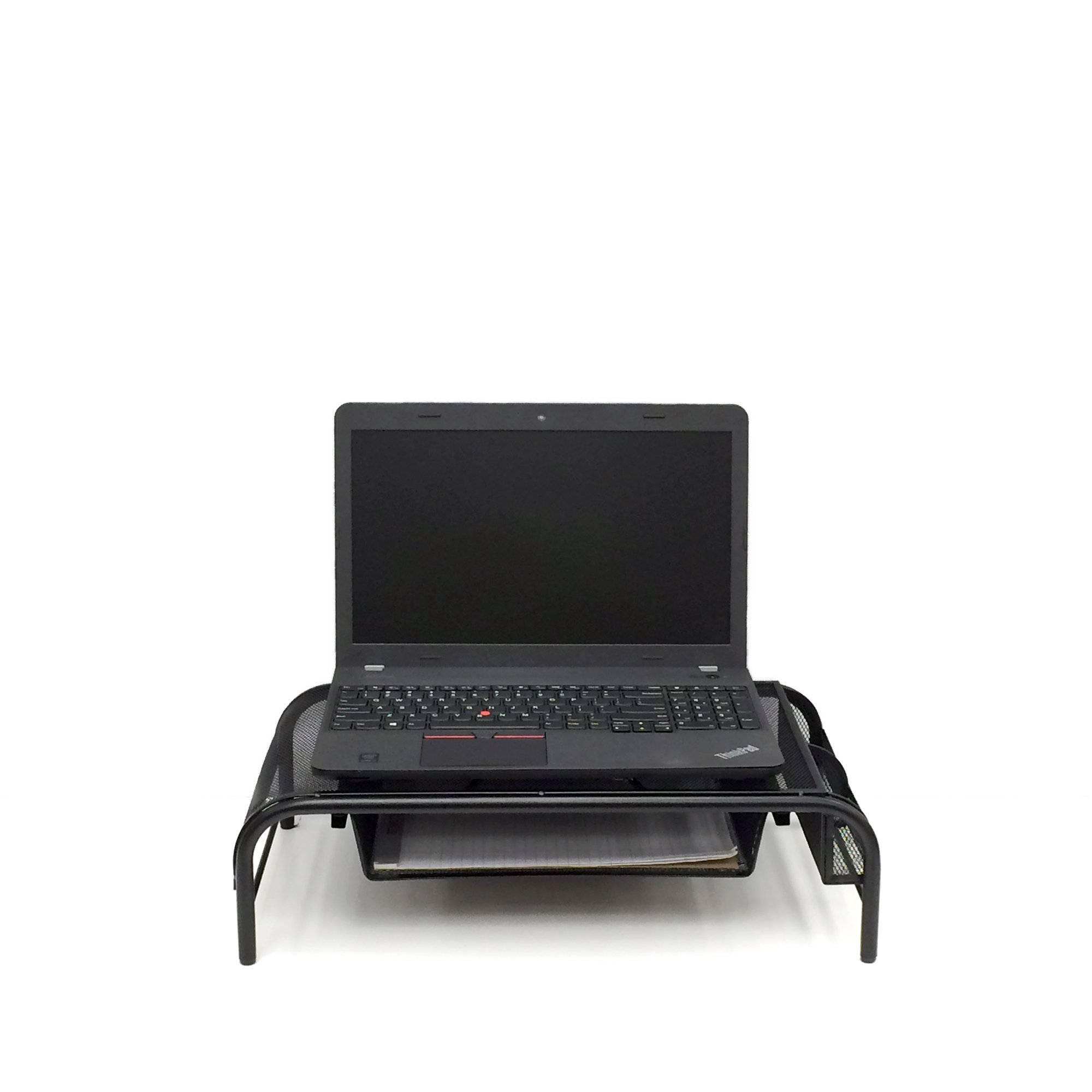 Mind Reader Raise' Metal Mesh Monitor Stand with Drawer, Black by Mind Reader (Image #2)