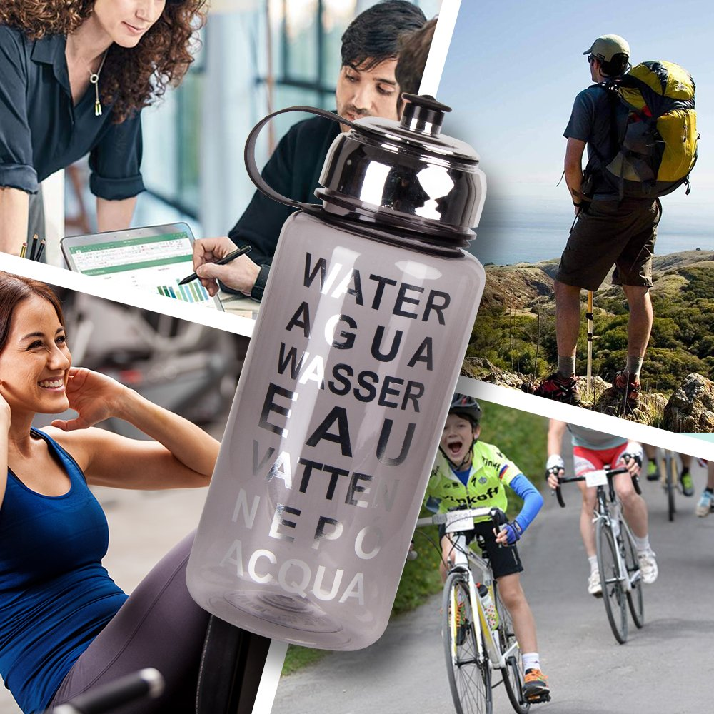 Sports Water Bottle Large Capacity 34oz BPA-Free Fast Water Flow,1000ml Leak Proof Drinking Bottles Eco Friendly for Outdoor Training Sports Yoga Camping Biking