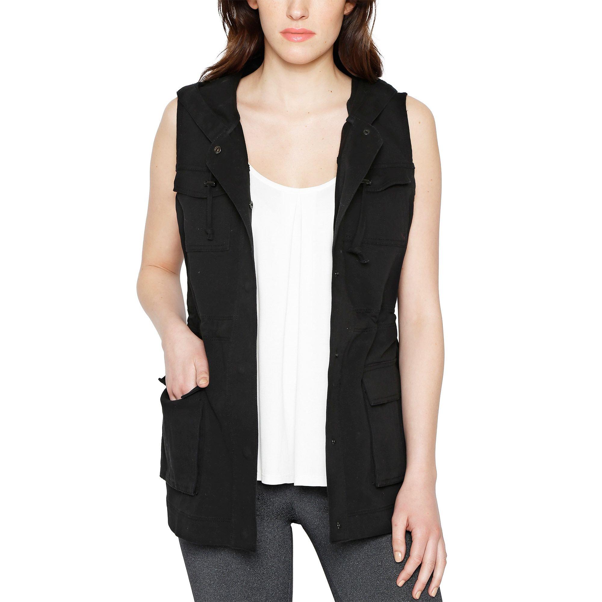 Matty M Women's Cargo Vest, Small, Black