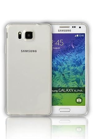 Samsung Galaxy Alpha G580 TPU blanco transparente a tu ...