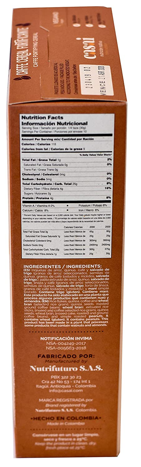 Amazon.com: Casai Native Nutrition Cereal (Coffee Fortifying ...