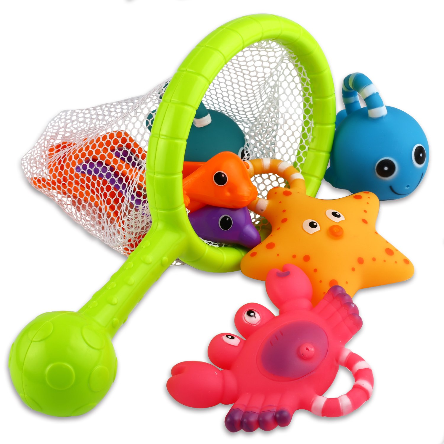 Bath Toy Fishing Floating Squirts Toy And Water Scoop