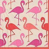 Caspari Lunch-Servietten dreilagig, Flamingo Strut, 20 Stück, 33 x 33 cm