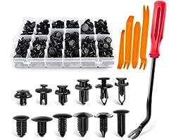 GOOACC 240PCS Bumper Retainer Clips Car Plastic Rivets Fasteners Push Retainer Kit Most Popular Sizes Auto Push Pin Rivets Se