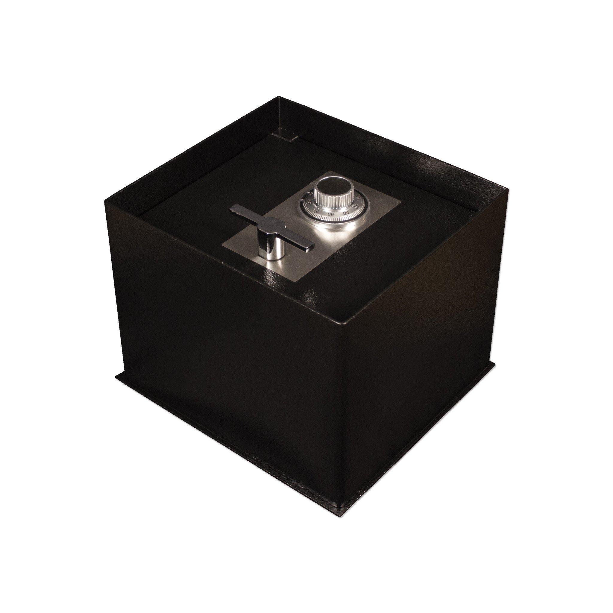 Tracker Safe FS121514-DLG Steel Floor Safe, Mechanical/Dial Lock, Black Powder Coat Paint, 1.49 cu. ft.
