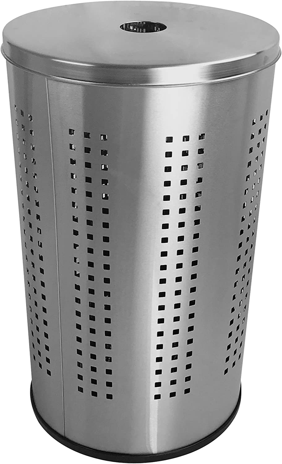 Brushed Stainless Steel Laundry Bin & Hamper | 46L Ventilated Stainless Steel Clothes Basket with Polished Lid | Life Time Warranty|