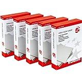 5 Star - Papel para fotocopiadora (80 g/m², A4, 2500 hojas), color blanco