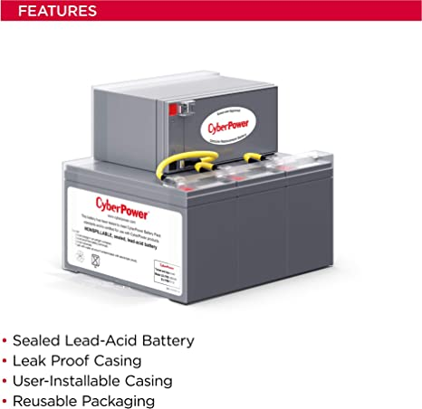 This is an AJC Brand Replacement CyberPower PP2200SW 12V 9Ah UPS Battery