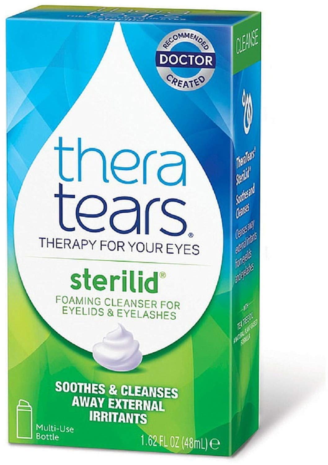 TheraTears SteriLid Eyelid Cleanser 1.62 oz (Pack of 4) by Thera Tears