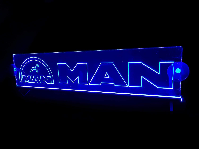 wei/ß Unbekannt 24 Volt LED Lichtplatte Logo f/ür LKW Beleuchtung Schild Tischkabine Deko Zubeh/ör graviert 24V 5W