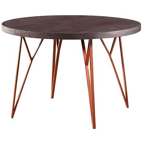 Metallfuß Tisch Rund.Finebuy Esszimmertisch Fb51441 Tisch 118x79x118 Cm