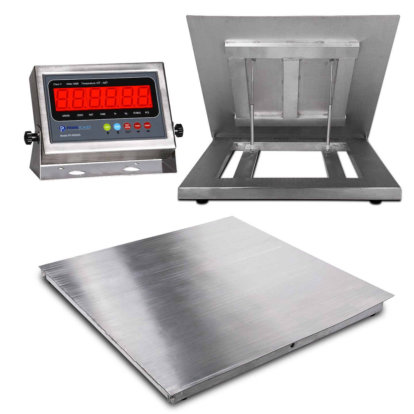 PS-SSF Stainless Steel Floor Scale with Stainless Steel Indicator (48x48 Inches)