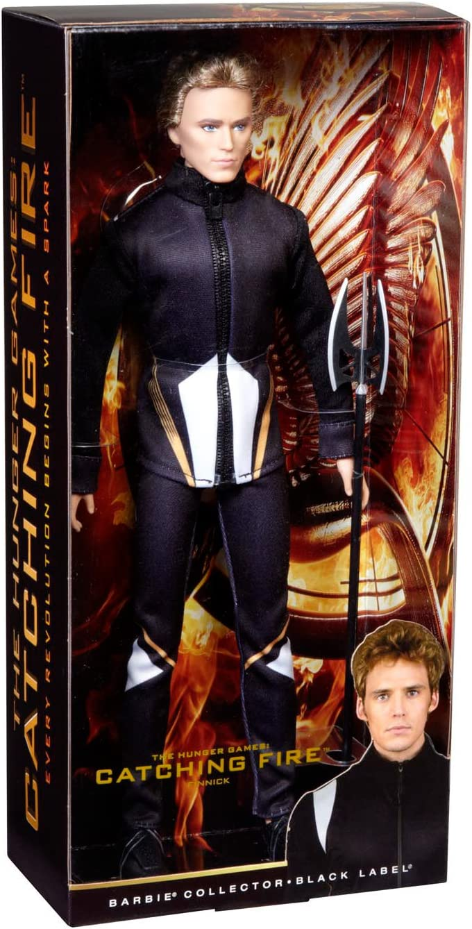 Barbie Hunger Games Finnick Ken Doll Black Trident Spear Weapon Accessory NEW